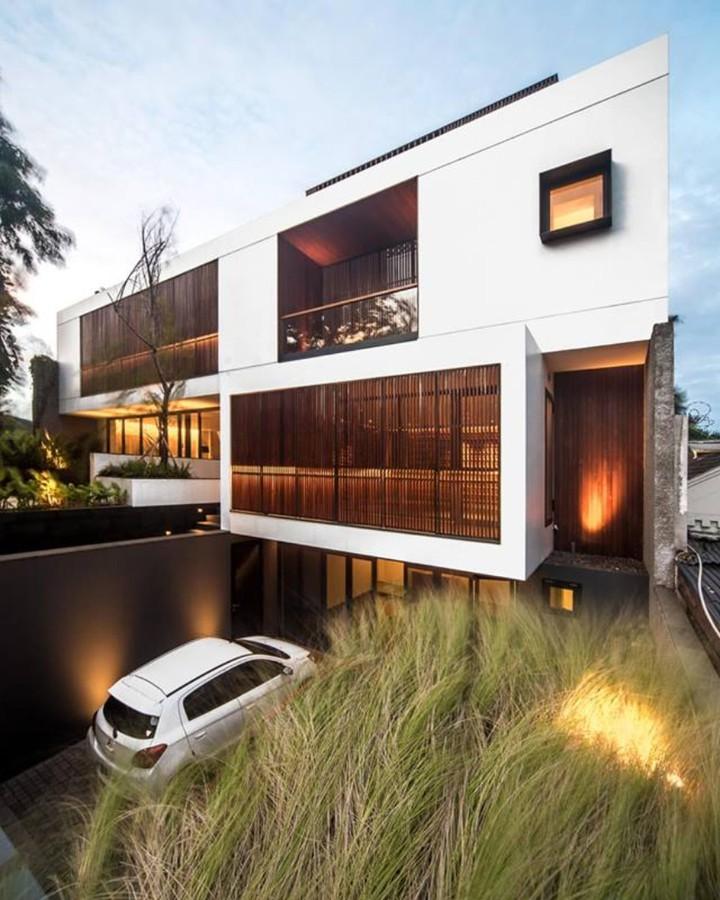 panel kisi kisi minimalis kayu solid ulin