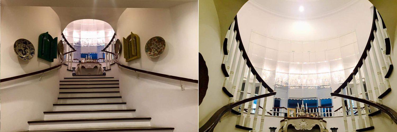 tangga minimalis kayu solid jati / merbau
