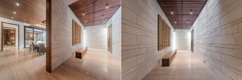 plafon rumah kayu solid jati / merbau